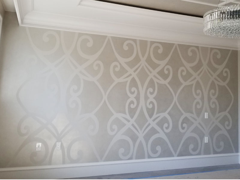 Feature Wall in Master Bedroom