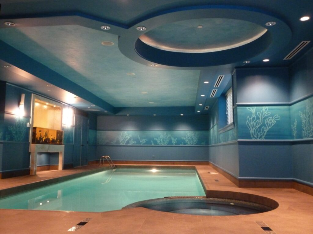 Under water themed swimming pool